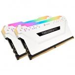 Kit Memoria RAM Corsair Vengeance RGB PRO White DDR4, 2666 MHz, 16GB (2 x 8GB), Non-ECC, CL16, XMP