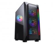 Gabinete Cougar MX410 Mesh-G RGB con Ventana, Midi Tower, ATX/micro ATX/Mini-ITX, USB 2.0/3.0, sin Fuente, Negro