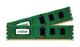 Kit Memoria RAM Crucial CT2K102464BD160B DDR3L, 1600MHz, 16GB (2x 8GB), CL5
