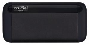 SSD Externo Crucial X8, 500GB, USB C, Negro, A Prueba de Golpes