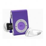 Data Components Lector MicroSD y Reproductor MP3, USB 2.0, Morado