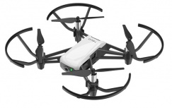 Drone DJI TELLO, 4 Rotores, 100 Metros, Negro/Blanco