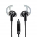 Easy Line Audífonos Intrauriculares Deportivos con Micrófono In-Ear, Alámbrico, 1.08 Metros, 3.5mm, Negro/Gris