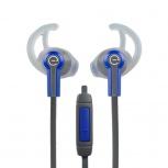 Easy Line Audífonos Intrauriculares Deportivos con Micrófono EL-995210, Alámbrico, 1.1 Metros, 3.5mm, Azul/Gris