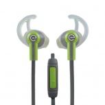 Easy Line Audífonos Intrauriculares Deportivos con Micrófono EL-995227, Alámbrico, 1.1 Metros, 3.5mm, Verde/Gris