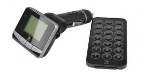 Easy Line Transmisor FM para Coche con Control Remoto, Inalámbrico, Negro