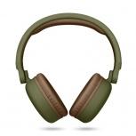 Energy Sistem Audífonos con Micrófono Headphones 2, Bluetooth, Inalámbrico, USB, Marrón/Verde