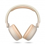 Energy Sistem Audífonos con Micrófono Headphones 2, Bluetooth, Inalámbrico, USB, Beige/Blanco