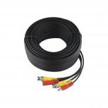 Epcom Cable Coaxial BNC/DC Macho - BNC/DC Macho, 30 Metros, Negro