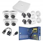 Epcom Kit de Vigilancia KESTXLT4BW/4EW de 4 Cámaras Bullet y 4 Cámaras Domo CCTV, 8 Canales, con Grabadora