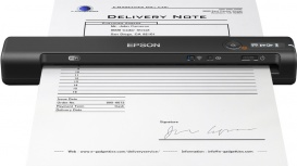 Scanner Epson WorkForce ES-60W, 600 x 600DPI, Escáner Color, USB, Negro