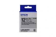 Cinta Epson LabelWorks LK-4SBM Negro sobre Metálico, 12mm x 9m