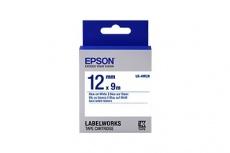 Cinta Epson LK-4WBN Azul sobre Blanco, 12mm x 9m