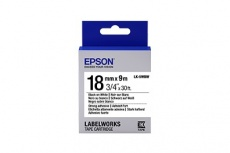 Cinta Epson LK-5WBW Negro Sobre Blanco, 18mm x 9m
