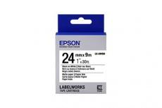 Cinta Epson LabelWorks Matte LK-6WBB Negro sobre Blanco, 2.4cm x 9m