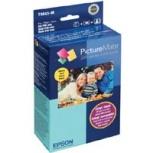 Epson Kit Cartucho y Papel PictureMate 200, 4 Colores, 100 Páginas