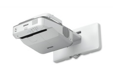 Proyector Interactivo Epson PowerLite 685W 3LCD, WXGA 1280 x 800, 3500 Lúmenes, Tiro Corto, con Bocinas, Gris/Blanco