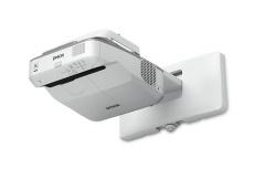 Proyector Interactivo Epson PowerLite 680 3LCD, XGA 1024 x 768, 3500 Lúmenes, Tiro Corto, con Bocinas, Gris/Blanco