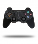 Eurocase Gamepad EUGA-W710 Tetrix, PC/PS3, RF Inalámbrico, Negro