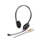 Genius Audífonos HS-200C, Audífonos con Micrófono, Negro