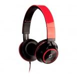 Getttech Audífonos con Micrófono Sonority, Alámbrico, 1.2 Metros, 3.5mm, Negro/Rojo