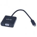 Ghia Adaptador USB-C Macho - VGA Hembra, Negro