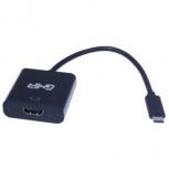 Ghia Adaptador USB-C Macho - HDMI Hembra, Negro