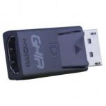 Ghia Adaptador DisplayPort Macho - HDMI Hembra, Negro