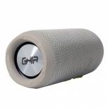 Ghia Bocina Portátil BX600G, Bluetooth, Inalámbrico, 5W RMS, USB, Gris - Resistente al Agua