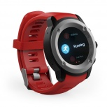 Ghia Smartwatch Draco, GPS, Bluetooth 4.0, Rojo - Resistente al Agua