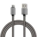 Ghia Cable USB Macho - Micro USB B, 1 Metro, Gris