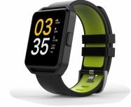 Ghia Smartwatch GAC-108, Touch, Bluetooth 4.0, Android 7.1/iOS 9.3, Negro/Verde - Resistente al Agua