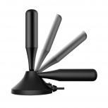 Ghia Antena para Televisión GANT-002 para Interiores, UHF, Negro