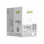 Ghia Bobina de Cable Cat5e UTP, 100 Metros, Gris