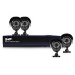 Ghia Kit de Vigilancia GDV-008 de 4 Cámaras CCTV Bullet y 8 Canales, con Grabadora + Disco Duro 1TB