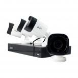 Ghia Kit de Vigilancia GDV-013 de 4 Cámaras y 4 Canales, con Grabadora DVR