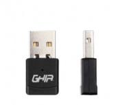Ghia Adaptador de Red USB GNW-U5, Inalámbrico, 2.4GHz, 600Mbps