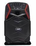 Ghia Bafle GSP-08BR, Bluetooth, Inalámbrico, 3200W PMPO, USB, Negro/Rojo