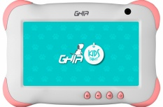 Tablet Ghia GTKIDS7 7'', 8GB, 1024 x 600 Pixeles, Android 8.1, Rosa/Blanco