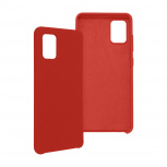 Ghia Funda con Mica AC-9075 para Samsung A51S, Rojo