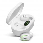 Ghia Audífonos Intrauriculares TWS-1B, Inalámbrico, Bluetooth, Blanco
