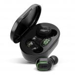 Ghia Audífonos Intrauriculares TWS-1N, Inalámbrico, Bluetooth, Negro