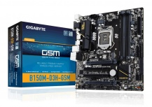 Tarjeta Madre Gigabyte micro ATX GA-B150M-D3H GSM, S-1151, Intel B150, HDMI, 64GB DDR4, para Intel