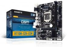 Tarjeta Madre Gigabyte Micro ATX GA-H110M-S2H-GSM, S-1151, Intel H110, HDMI, 32GB DDR4 para Intel