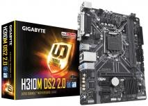 Tarjeta Madre Gigabyte Micro ATX H310M DS2 2.0, S-1151, Intel H310, 32GB DDR4 para Intel ― Compatibles solo con 8va & 9va Generación