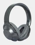 Ginga Audífonos con Micrófono GI18ADJ01BT-GR, Bluetooth, Alámbrico/Inalámbrico, Gris