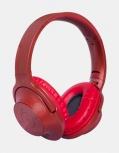 Ginga Audífonos con Micrófono GI18ADJ01BT-RO, Bluetooth, Alámbrico/Inalámbrico, 3.5mm, Rojo