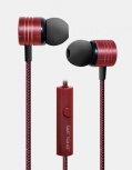 Ginga Audífonos Intrauriculares con Micrófono GI18AUD01, Alámbrico, 1.2 Metros, 3.5mm, Rojo