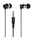 Grixx Audífonos Intrauriculares con Micrófono GROHU3000, Alámbrico, 1.2 Metros, 3.5mm, Negro