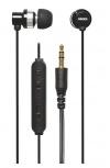Grixx Audífonos Intrauriculares con Micrófono GROHU3000R, Alámbrico, 1.2 Metros, 3.5mm, Negro